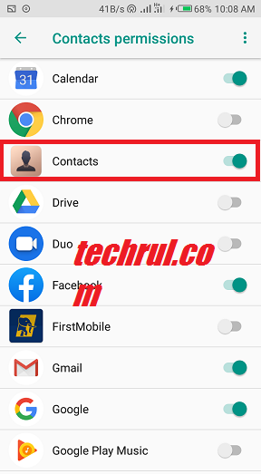 phone not showing contact name on incoming calls