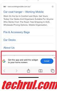 how to stop Google widget ad pop up on iPhone